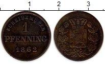 Изображение Монеты Бавария 1 пфенниг 1862 Медь XF-