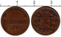 Изображение Монеты Бавария 1 пфенниг 1863 Медь XF-