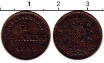 Изображение Монеты Бавария 1 пфенниг 1869 Медь VF