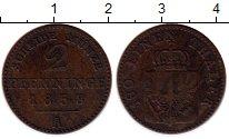 Изображение Монеты Германия Пруссия 2 пфеннига 1858 Медь VF