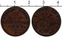 Изображение Монеты Германия Пруссия 2 пфеннига 1865 Медь VF