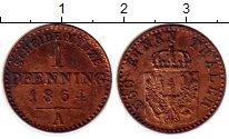 Изображение Монеты Германия Пруссия 1 пфенниг 1864 Медь XF