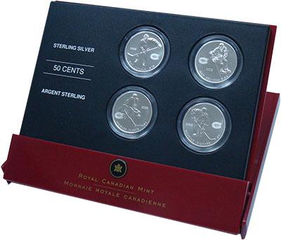 Изображение Подарочные монеты Канада Легенды хоккея - Монреаль Канадиенс 2005 Серебро UNC