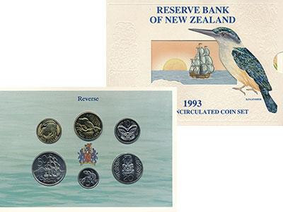 Изображение Подарочные монеты Австралия и Океания Новая Зеландия Набор 1993 года 1993  UNC