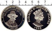 Изображение Монеты Острова Питкэрн 5 долларов 1999 Серебро Proof