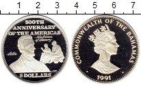 Изображение Монеты Северная Америка Багамские острова 5 долларов 1991 Серебро Proof