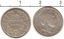 Изображение Монеты Европа Нидерланды 10 центов 1882 Серебро VF