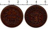 Изображение Монеты Люксембург 5 сантим 1860 Медь XF