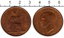 Изображение Монеты Великобритания 1 пенни 1948 Бронза XF+