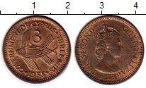 Изображение Монеты Кипр 3 милса 1955 Бронза UNC-