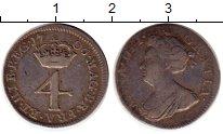 Изображение Монеты Европа Великобритания 4 пенса 1706 Серебро XF-