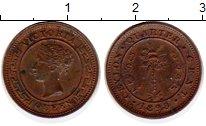 Изображение Монеты Цейлон 1/4 цента 1898 Медь XF Виктория