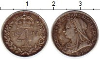 Изображение Монеты Европа Великобритания 4 пенса 1894 Серебро XF