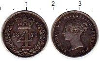 Изображение Монеты Великобритания 4 пенса 1874 Серебро XF