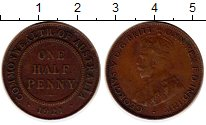 Изображение Монеты Австралия и Океания Австралия 1/2 пенни 1921 Бронза XF