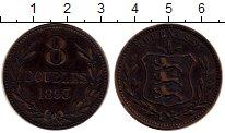 Изображение Монеты Великобритания Гернси 8 дублей 1893 Бронза XF-