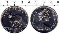 Изображение Монеты Великобритания Остров Мэн 1 крона 1970 Серебро UNC
