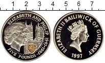 Изображение Монеты Великобритания Гернси 5 фунтов 1997 Серебро Proof