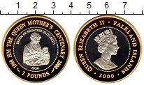 Изображение Монеты Великобритания Фолклендские острова 2 фунта 2000 Серебро Proof