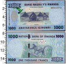 Изображение Банкноты Африка Руанда 1000 франков 2015  UNC