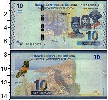 Изображение Банкноты Южная Америка Боливия 10 боливиано 2018  UNC