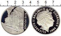 Изображение Монеты Гернси 5 фунтов 2004 Серебро Proof Железная дорога, пое