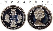 Изображение Монеты Великобритания Каймановы острова 25 долларов 1980 Серебро Proof-