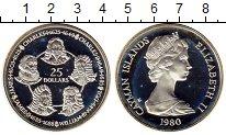 Изображение Монеты Каймановы острова 25 долларов 1980 Серебро Proof-