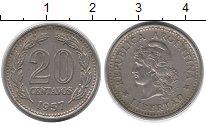 Изображение Дешевые монеты Аргентина 20 сентаво 1957 Медно-никель XF
