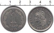 Изображение Дешевые монеты Южная Америка Аргентина 1 песо 1959 Медно-никель XF