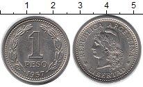 Изображение Дешевые монеты Южная Америка Аргентина 1 песо 1957 Медно-никель XF