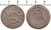 Изображение Монеты Швейцария 2 франка 1921 Серебро XF