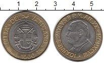 Изображение Монеты Ватикан 1000 лир 1998 Биметалл UNC-