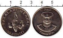 Изображение Монеты Австралия и Океания Тонга 20 сенити 1996 Медно-никель UNC-