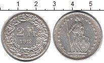 Изображение Монеты Швейцария 2 франка 1912 Серебро XF+