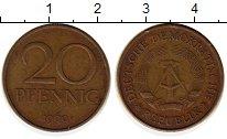 Изображение Монеты ГДР 20 пфеннигов 1969 Латунь XF А