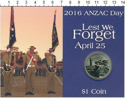 Изображение Подарочные монеты Австралия 1 доллар 2016 Латунь UNC