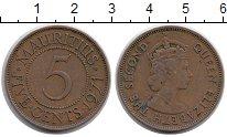Изображение Монеты Маврикий 5 центов 1971 Медь XF