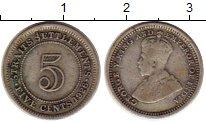 Изображение Монеты Стрейтс-Сеттльмент 5 центов 1926 Серебро XF