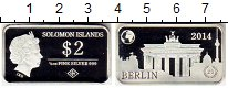 Изображение Монеты Австралия и Океания Соломоновы острова 2 доллара 2014 Серебро Proof