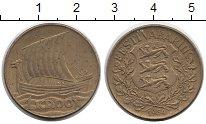 Изображение Монеты Эстония 1 крона 1934 Латунь XF Корабль