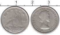 Изображение Монеты Северная Америка Канада 10 центов 1957 Медно-никель VF