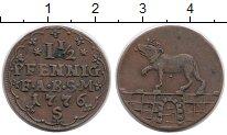 Изображение Монеты Германия Анхальт-Бернбург 1 1/2 пфеннига 1776 Медь XF