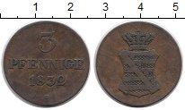 Изображение Монеты Саксония 3 пфеннига 1832 Медь XF