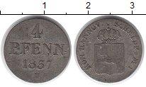 Изображение Монеты Германия Ганновер 4 пфеннига 1837 Серебро XF