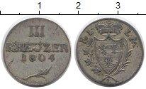 Изображение Монеты Германия Лейнинген-Дагсбург-Хартенбург 3 крейцера 1804 Серебро XF