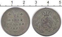 Изображение Монеты Германия Гессен-Кассель 1/6 талера 1821 Серебро XF