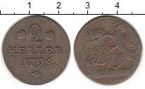 Изображение Монеты Гессен-Кассель 2 хеллера 1795 Медь VF