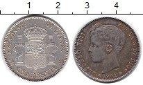 Изображение Монеты Испания 1 песета 1901 Серебро XF