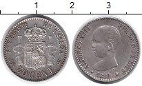 Изображение Монеты Испания 50 сентим 1889 Серебро XF